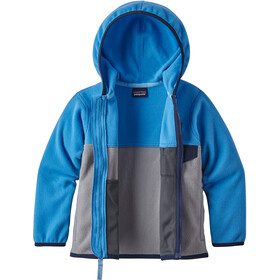 Patagonia Micro D Snap-T Chaqueta Niños, feather grey with port blue